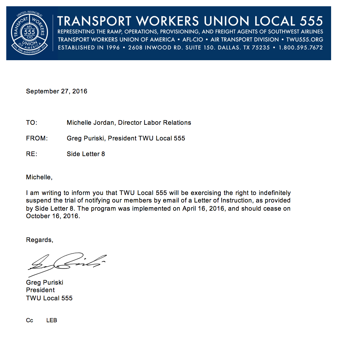 Black Book – TRANSPORT WORKERS UNION LOCAL 555